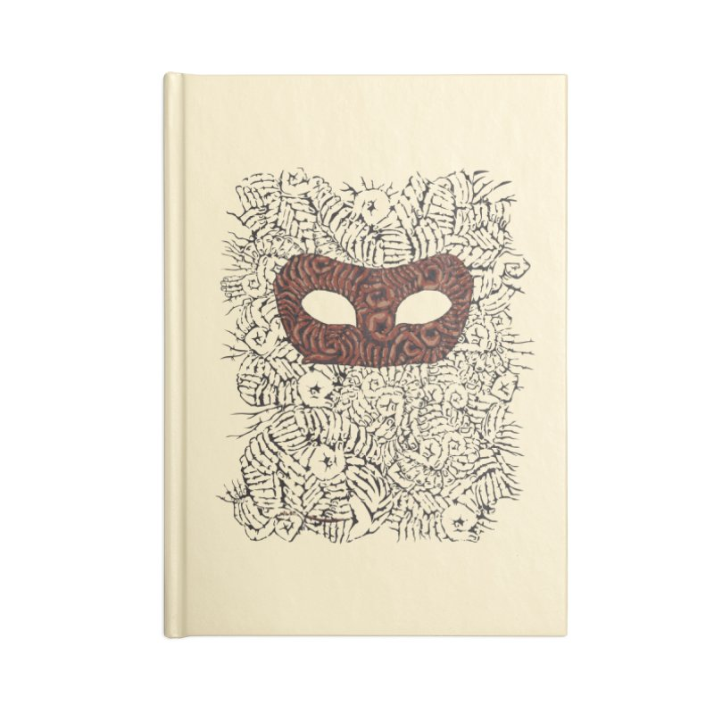 Fingers Mask Accessories Notebook by Dror Miler's Artist Shop