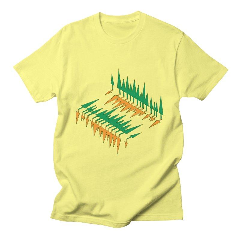 Cypresses reflecting Men's T-Shirt by Dror Miler's Artist Shop