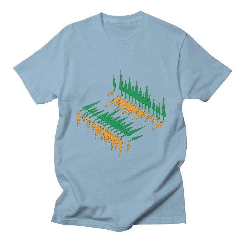 Cypresses reflecting Women's T-Shirt by Dror Miler's Artist Shop