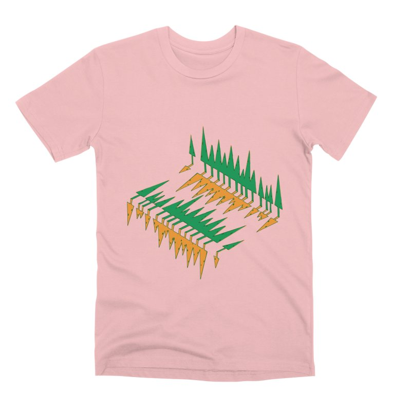 Cypresses reflecting Men's Premium T-Shirt by Dror Miler's Artist Shop
