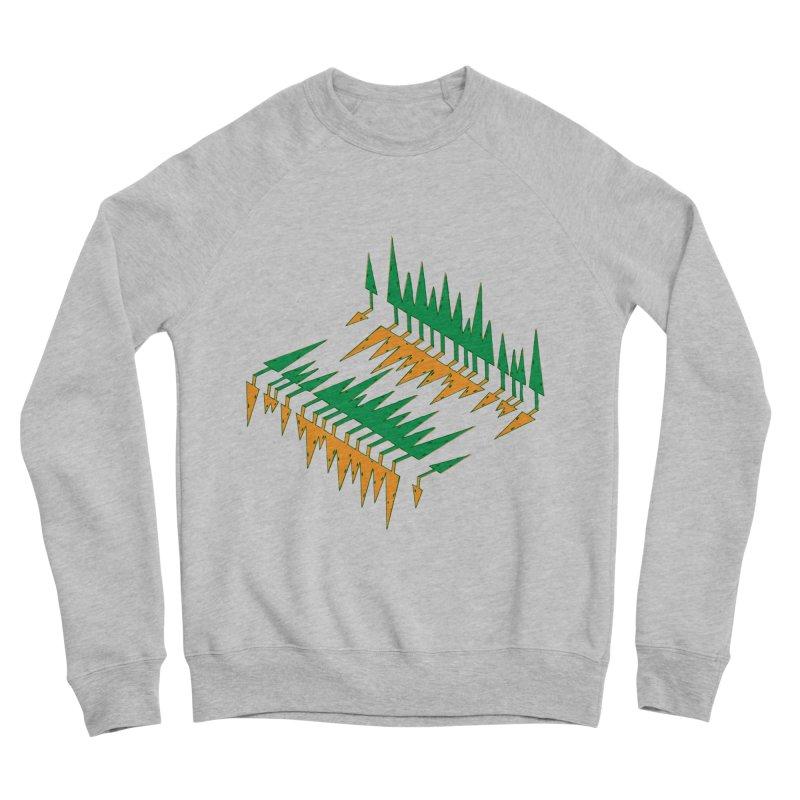 Cypresses reflecting Men's Sweatshirt by Dror Miler's Artist Shop