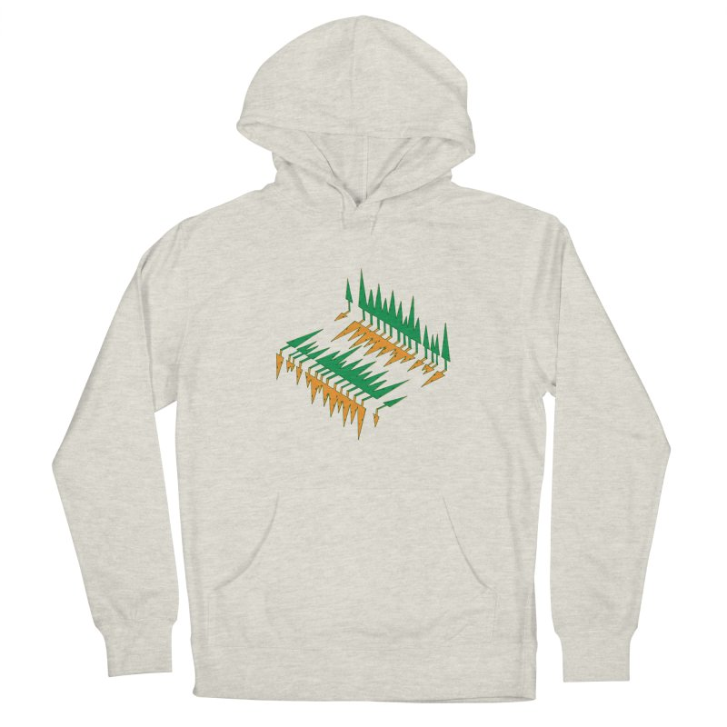 Cypresses reflecting Men's Pullover Hoody by Dror Miler's Artist Shop