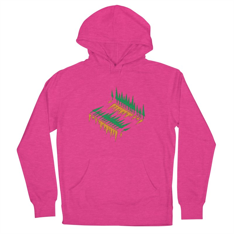 Cypresses reflecting Women's Pullover Hoody by Dror Miler's Artist Shop