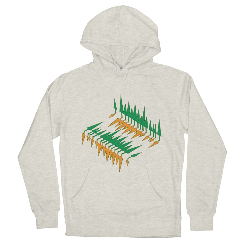 Cypresses reflecting Men's French Terry Pullover Hoody by Dror Miler's Artist Shop