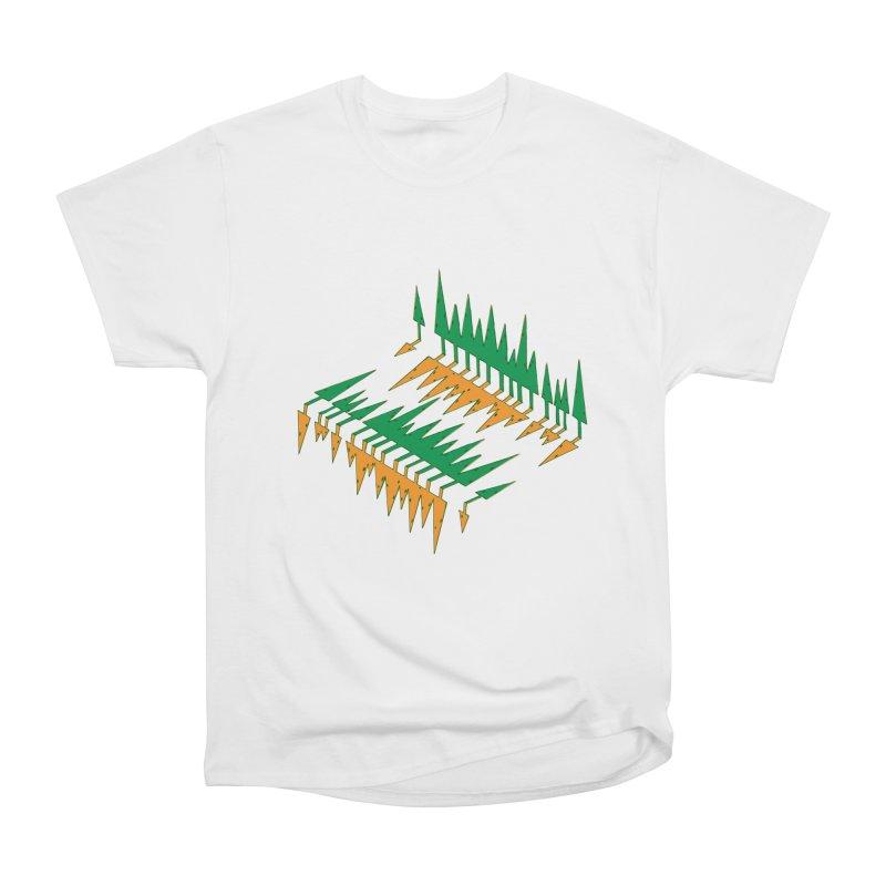 Cypresses reflecting Women's Heavyweight Unisex T-Shirt by Dror Miler's Artist Shop
