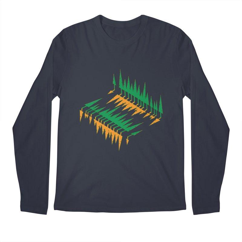 Cypresses reflecting Men's Longsleeve T-Shirt by Dror Miler's Artist Shop