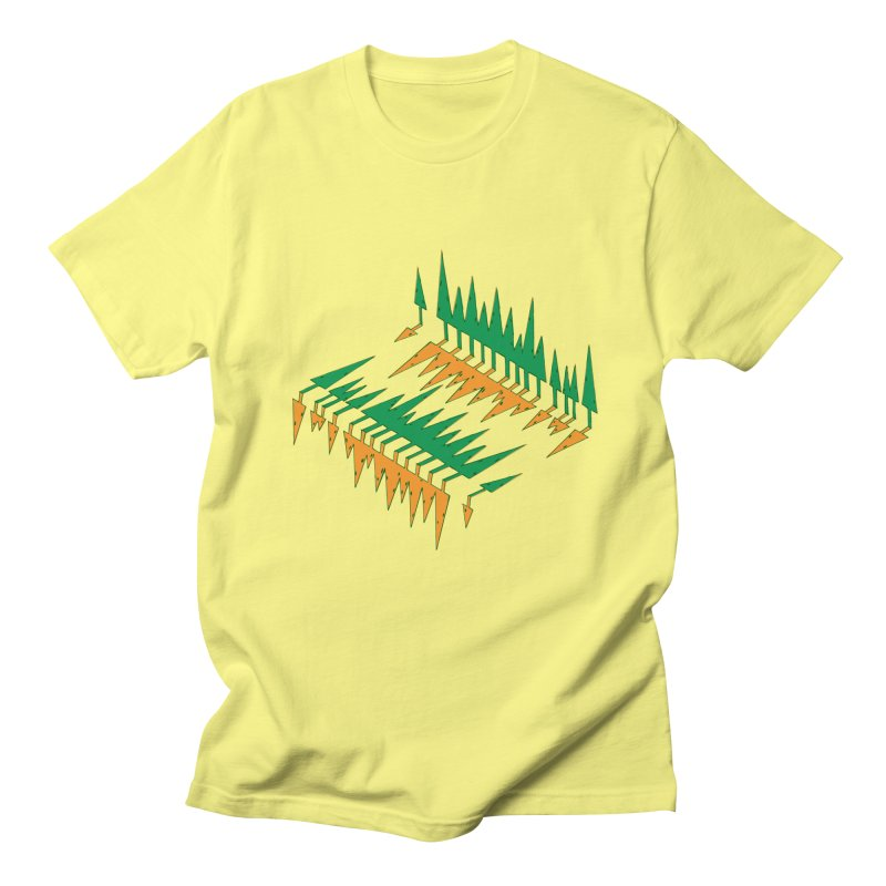 Cypresses reflecting Men's T-Shirt by Dror Miler's Artist Shop