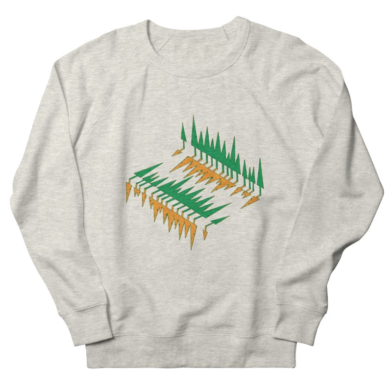 Cypresses reflecting Women's Sweatshirt by Dror Miler's Artist Shop