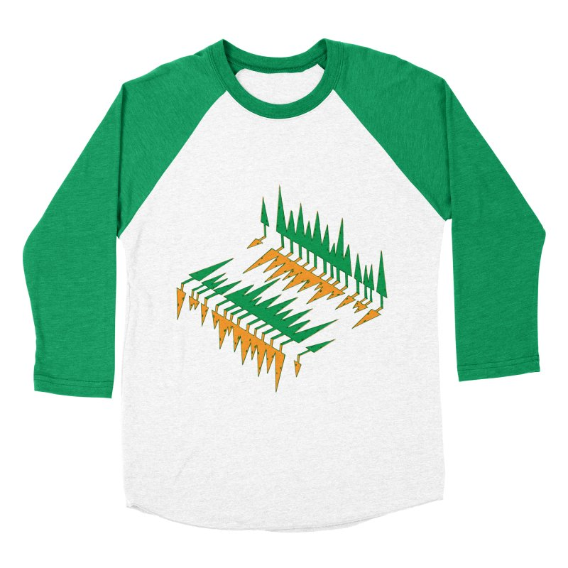 Cypresses reflecting Women's Baseball Triblend Longsleeve T-Shirt by Dror Miler's Artist Shop