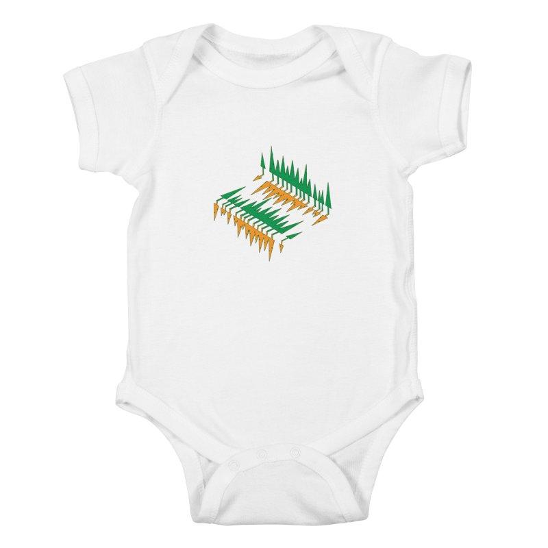 Cypresses reflecting Kids Baby Bodysuit by Dror Miler's Artist Shop