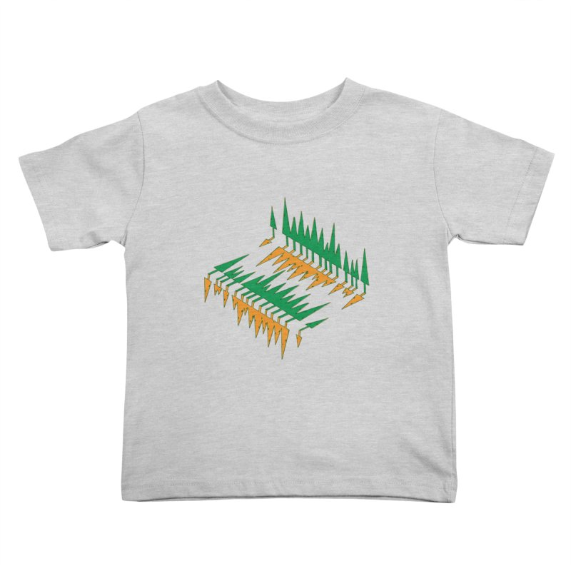 Cypresses reflecting Kids Toddler T-Shirt by Dror Miler's Artist Shop