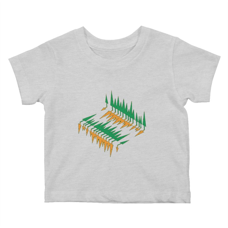 Cypresses reflecting Kids Baby T-Shirt by Dror Miler's Artist Shop