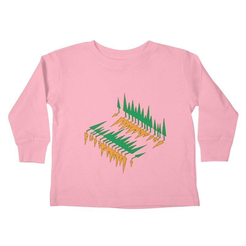 Cypresses reflecting Kids Toddler Longsleeve T-Shirt by Dror Miler's Artist Shop