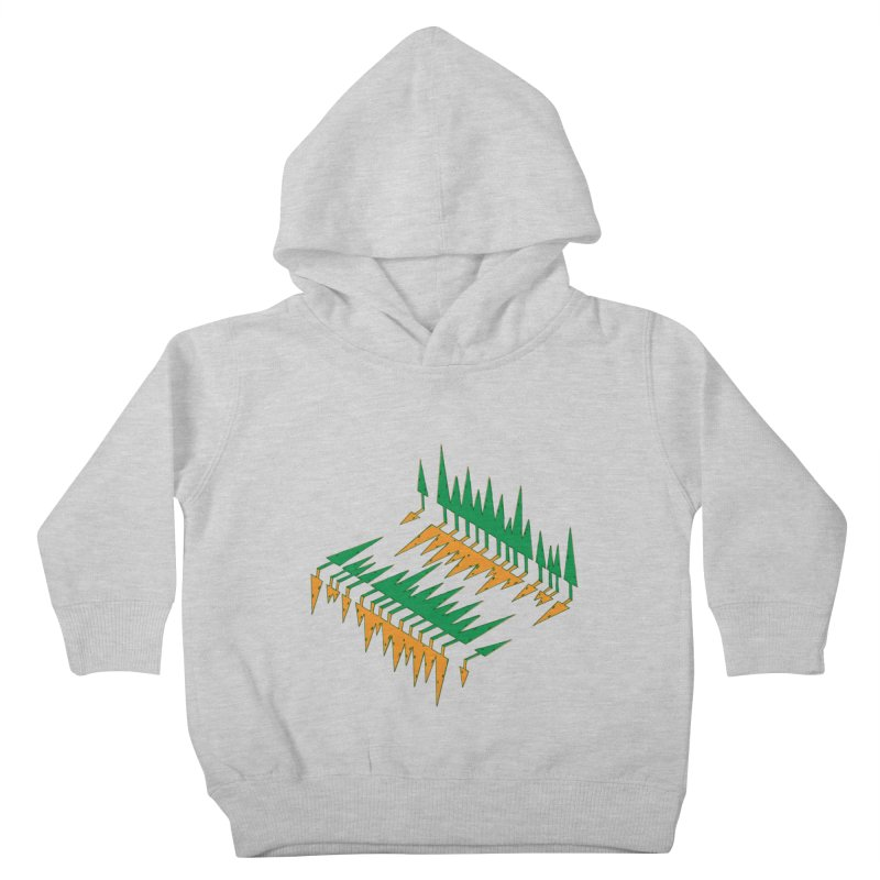 Cypresses reflecting Kids Toddler Pullover Hoody by Dror Miler's Artist Shop