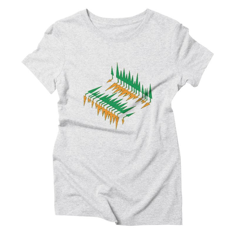 Cypresses reflecting Women's Triblend T-Shirt by Dror Miler's Artist Shop