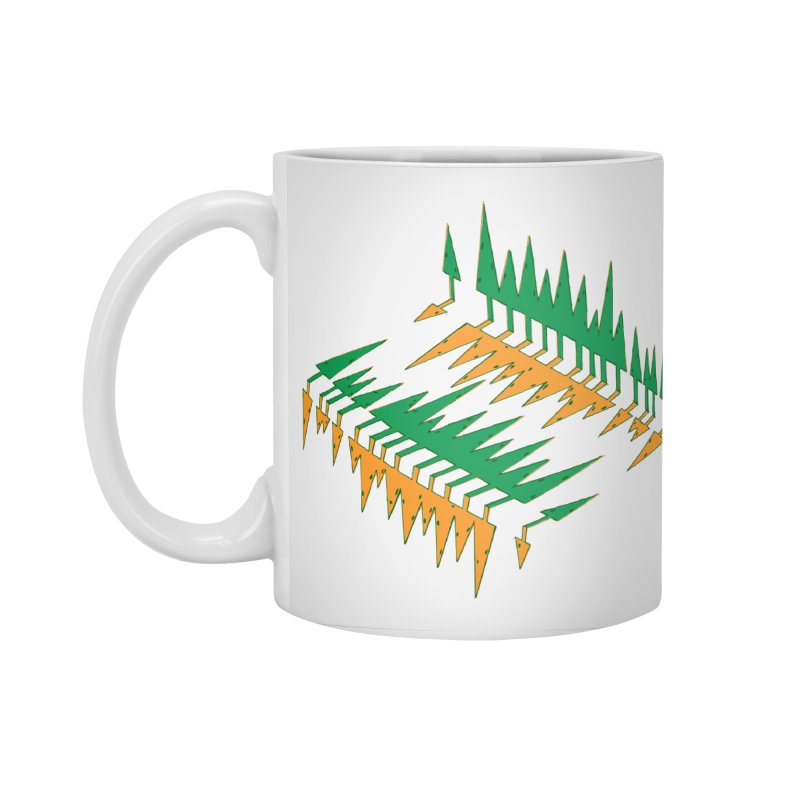 Cypresses reflecting Accessories Standard Mug by Dror Miler's Artist Shop