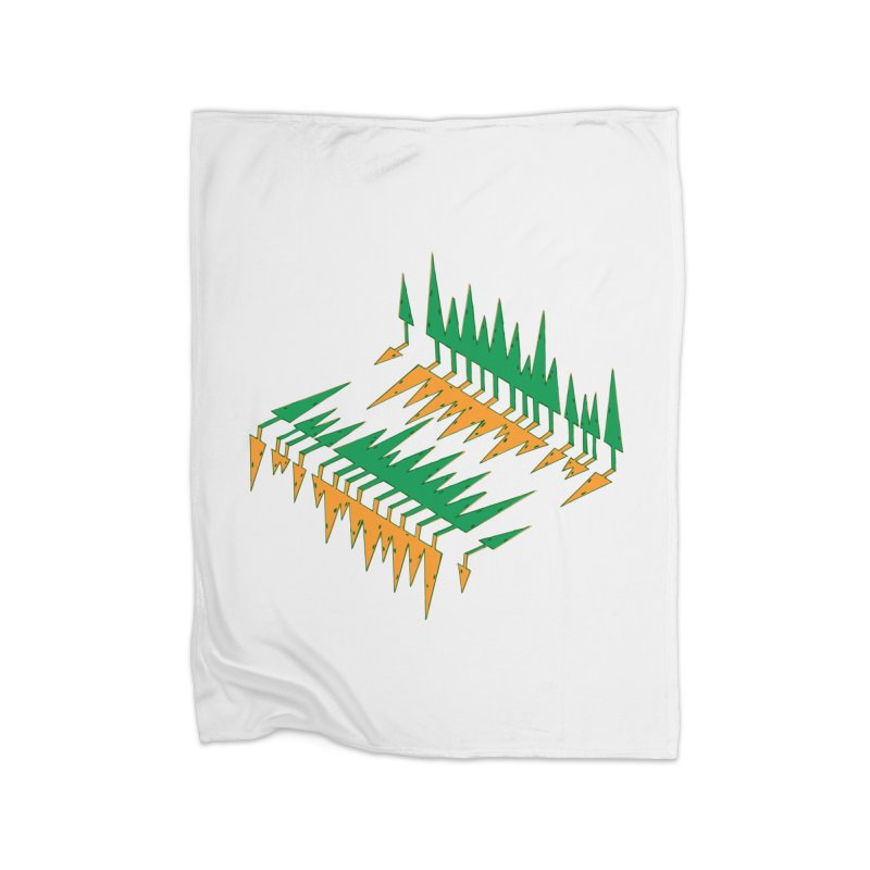 Cypresses reflecting Home Fleece Blanket Blanket by Dror Miler's Artist Shop