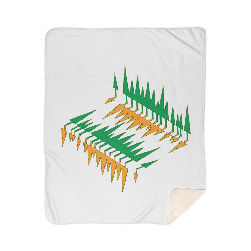 Cypresses reflecting Home Sherpa Blanket Blanket by Dror Miler's Artist Shop