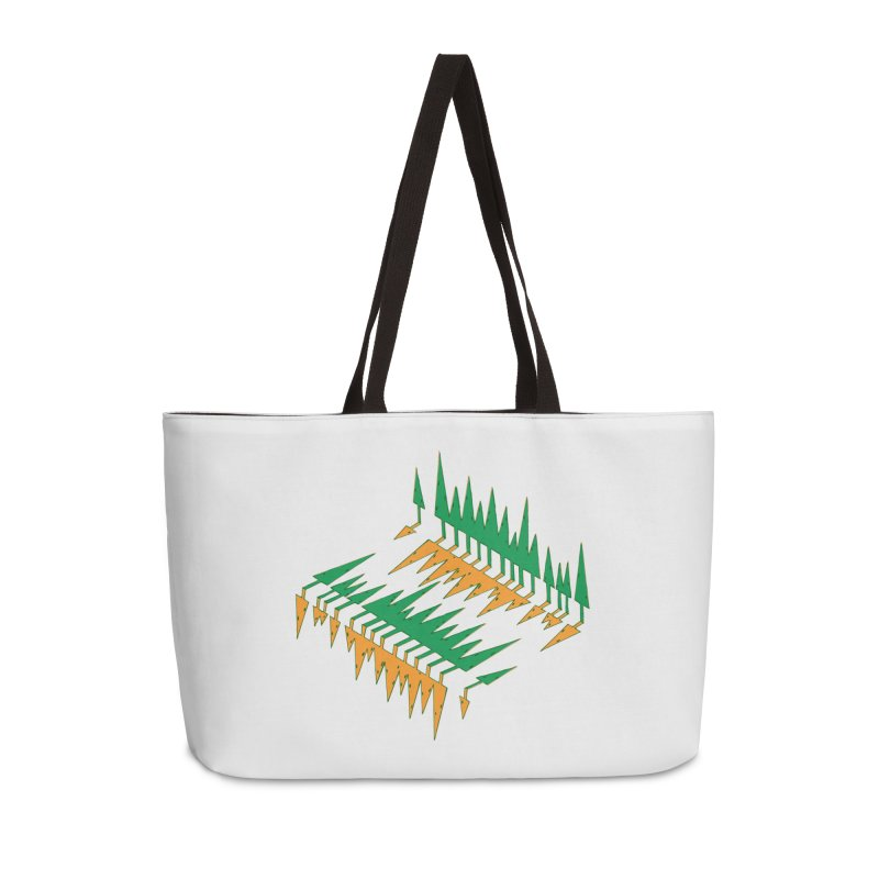 Cypresses reflecting Accessories Weekender Bag Bag by Dror Miler's Artist Shop