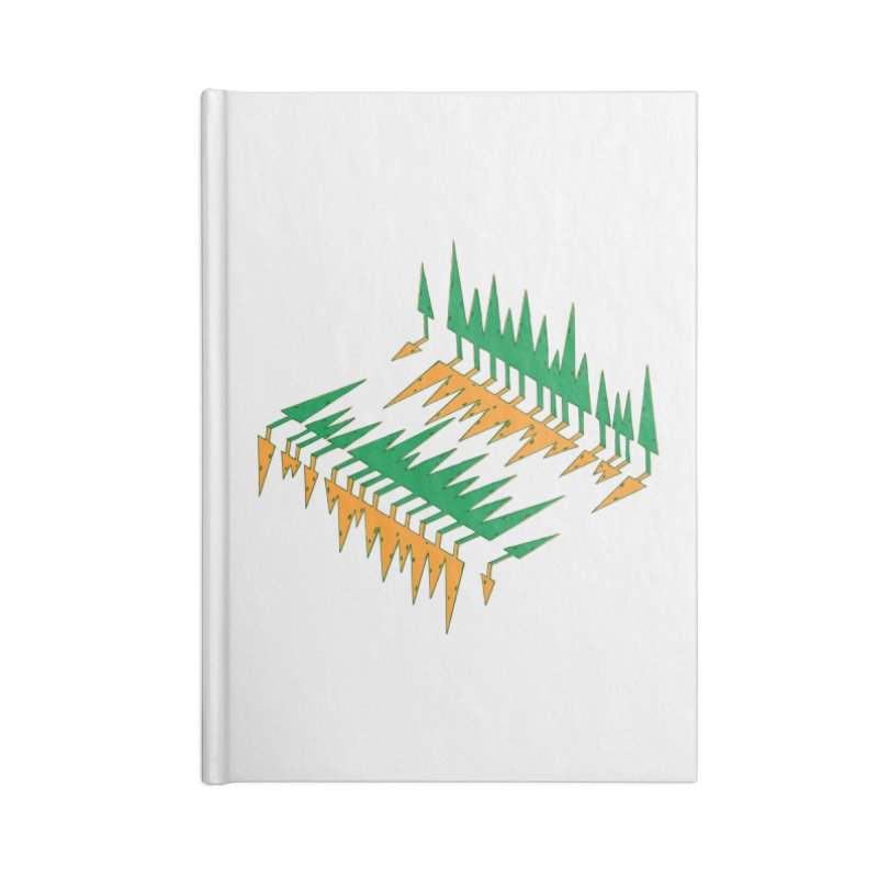 Cypresses reflecting Accessories Lined Journal Notebook by Dror Miler's Artist Shop