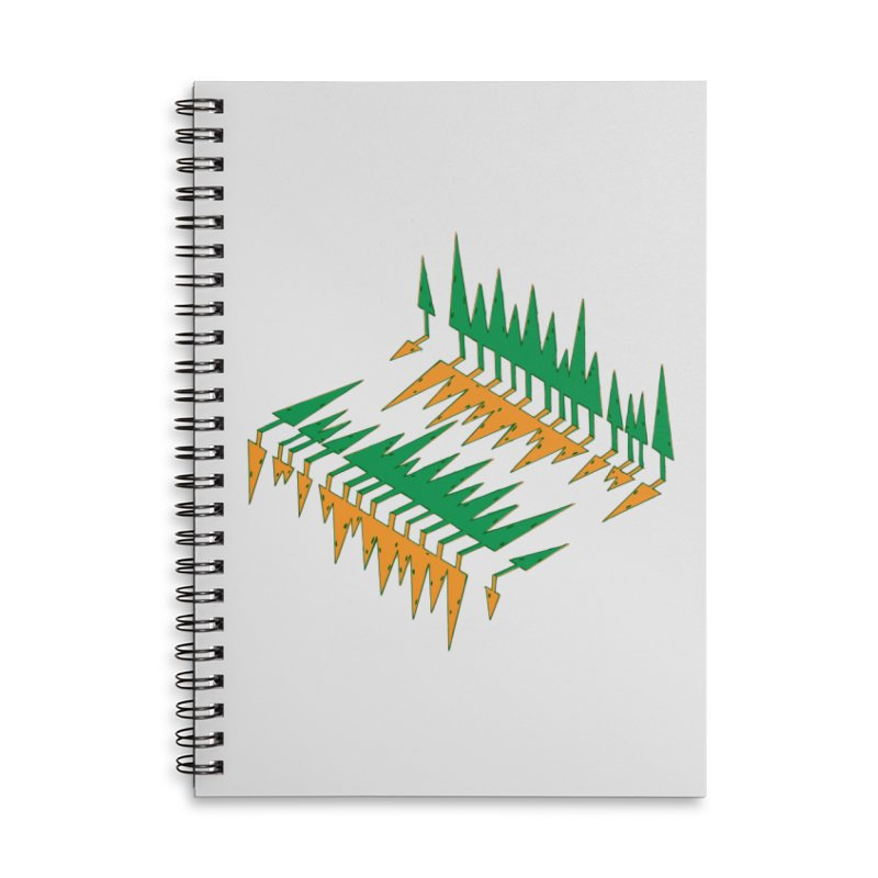 Cypresses reflecting Accessories Lined Spiral Notebook by Dror Miler's Artist Shop