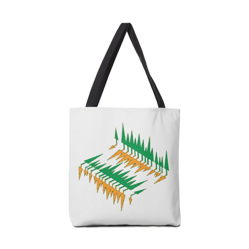 Cypresses reflecting Accessories Tote Bag Bag by Dror Miler's Artist Shop