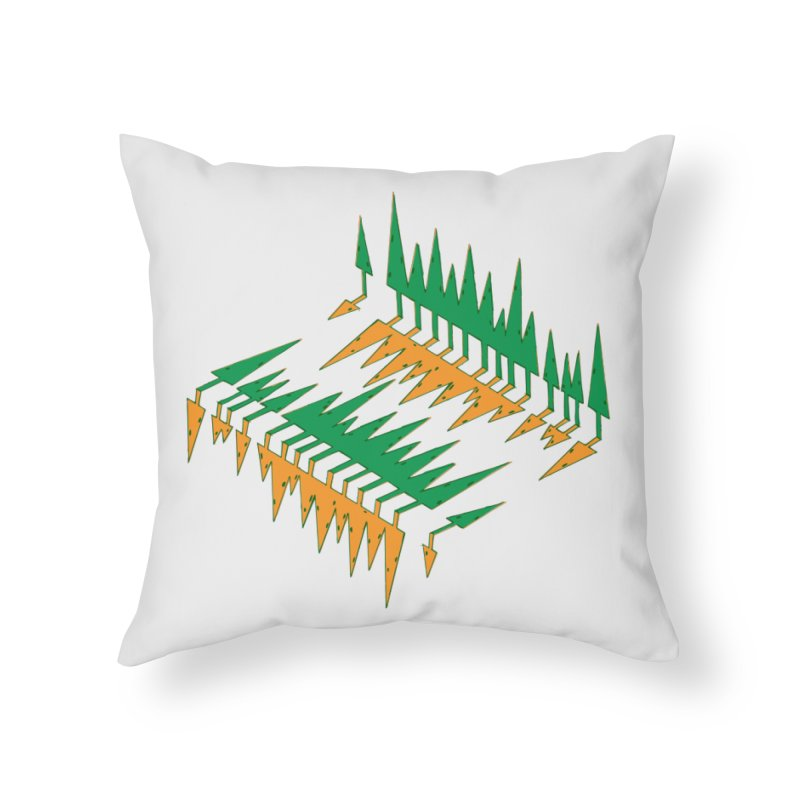 Cypresses reflecting Home Throw Pillow by Dror Miler's Artist Shop