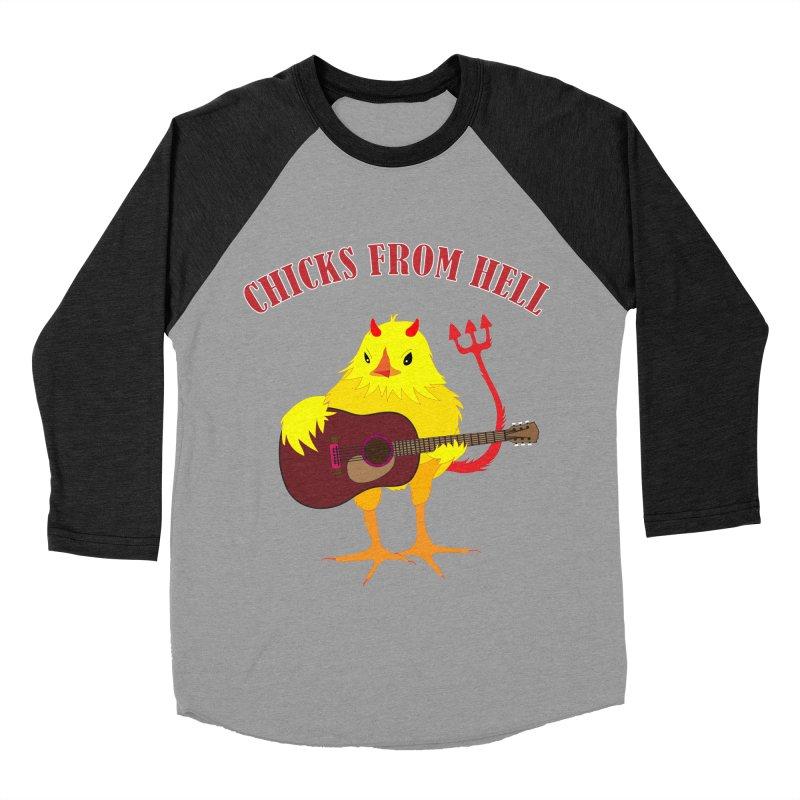 CHICKS FROM HELL Men's Baseball Triblend T-Shirt by Dror Miler's Artist Shop