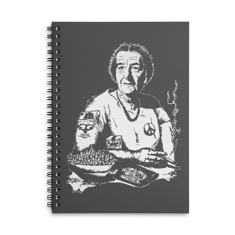 Narco Golda Accessories Lined Spiral Notebook by Dror Miler's Artist Shop