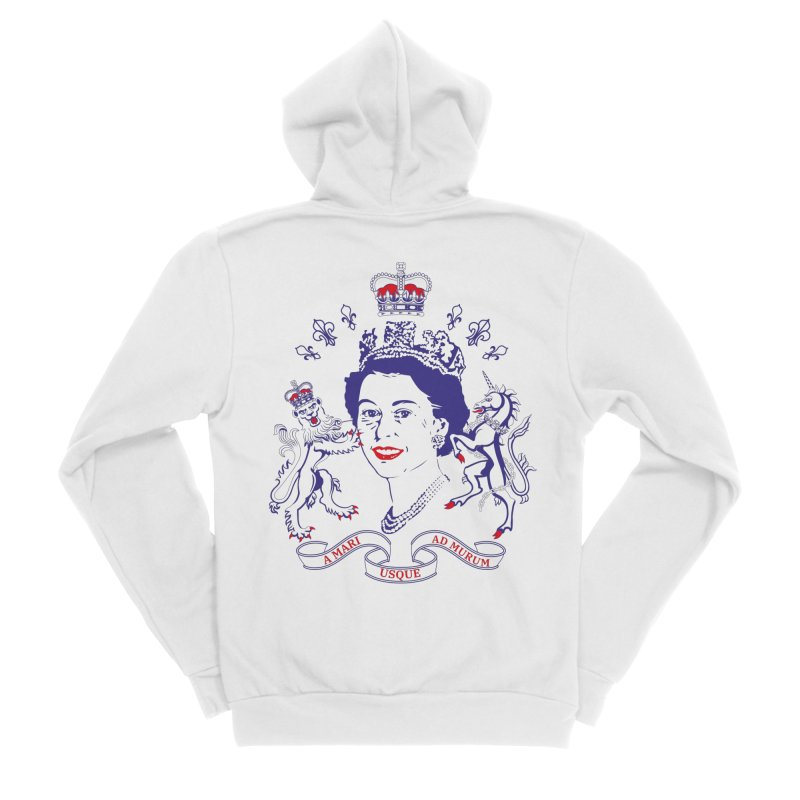 The Queen Women's Sponge Fleece Zip-Up Hoody by Dror Miler's Artist Shop