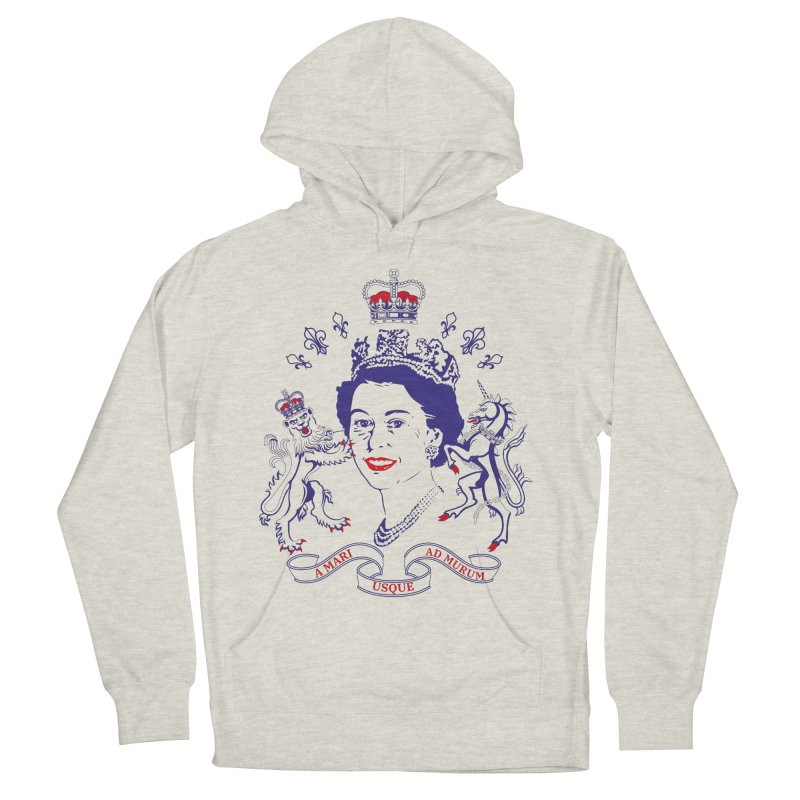 The Queen Men's French Terry Pullover Hoody by Dror Miler's Artist Shop