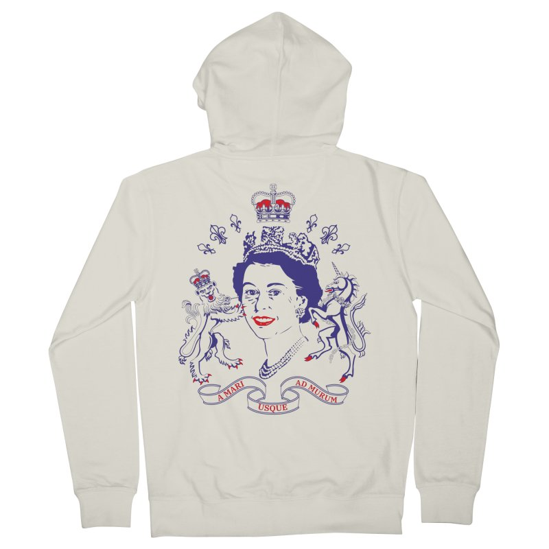 The Queen Women's French Terry Zip-Up Hoody by Dror Miler's Artist Shop