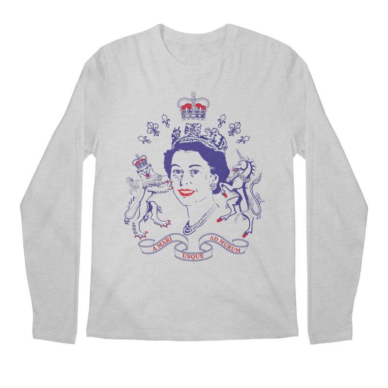 The Queen Men's Longsleeve T-Shirt by Dror Miler's Artist Shop