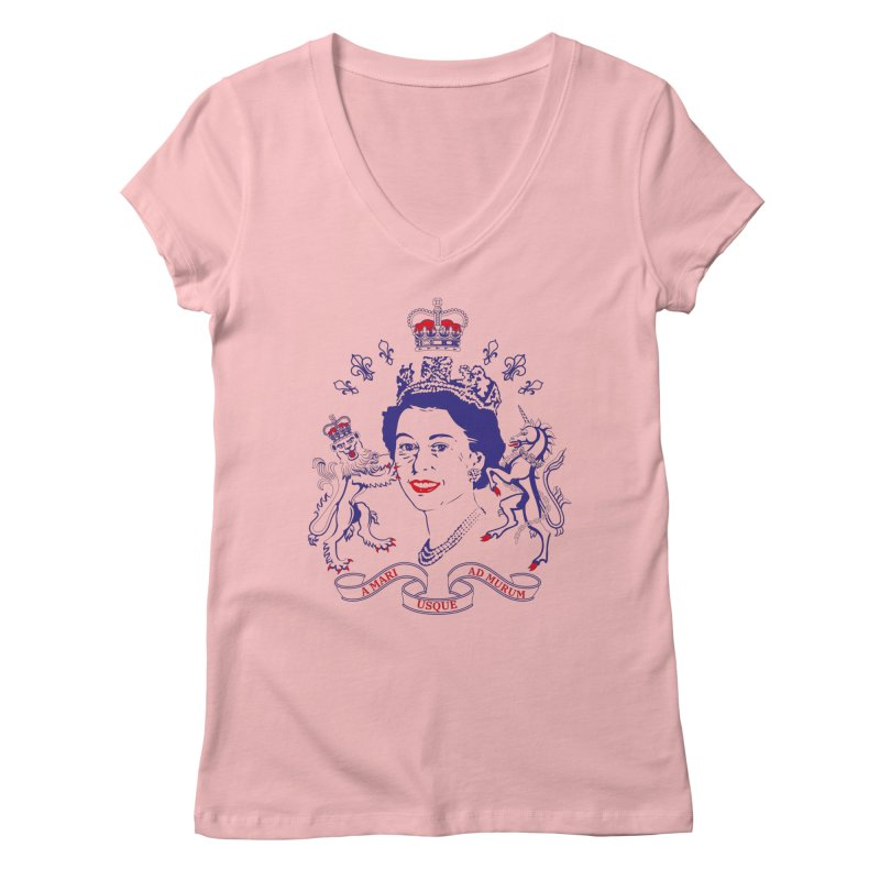 The Queen Women's Regular V-Neck by Dror Miler's Artist Shop