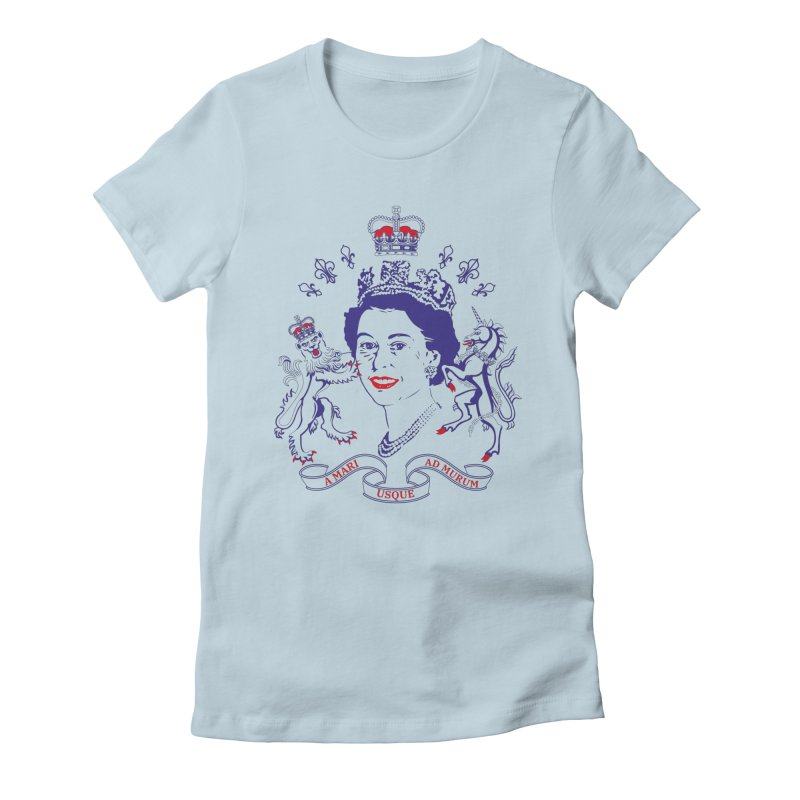 The Queen Women's Fitted T-Shirt by Dror Miler's Artist Shop