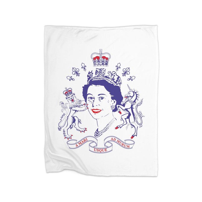 The Queen Home Fleece Blanket Blanket by Dror Miler's Artist Shop