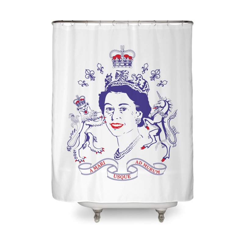 The Queen Home Shower Curtain by Dror Miler's Artist Shop