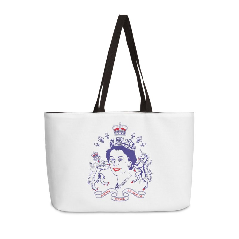 The Queen Accessories Weekender Bag Bag by Dror Miler's Artist Shop