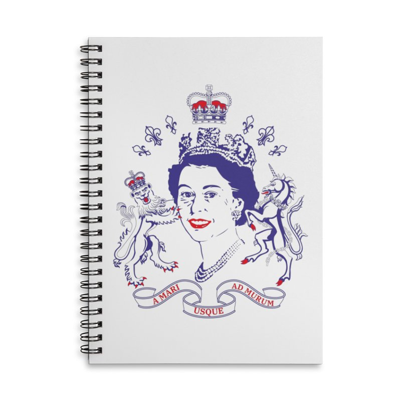 The Queen Accessories Lined Spiral Notebook by Dror Miler's Artist Shop