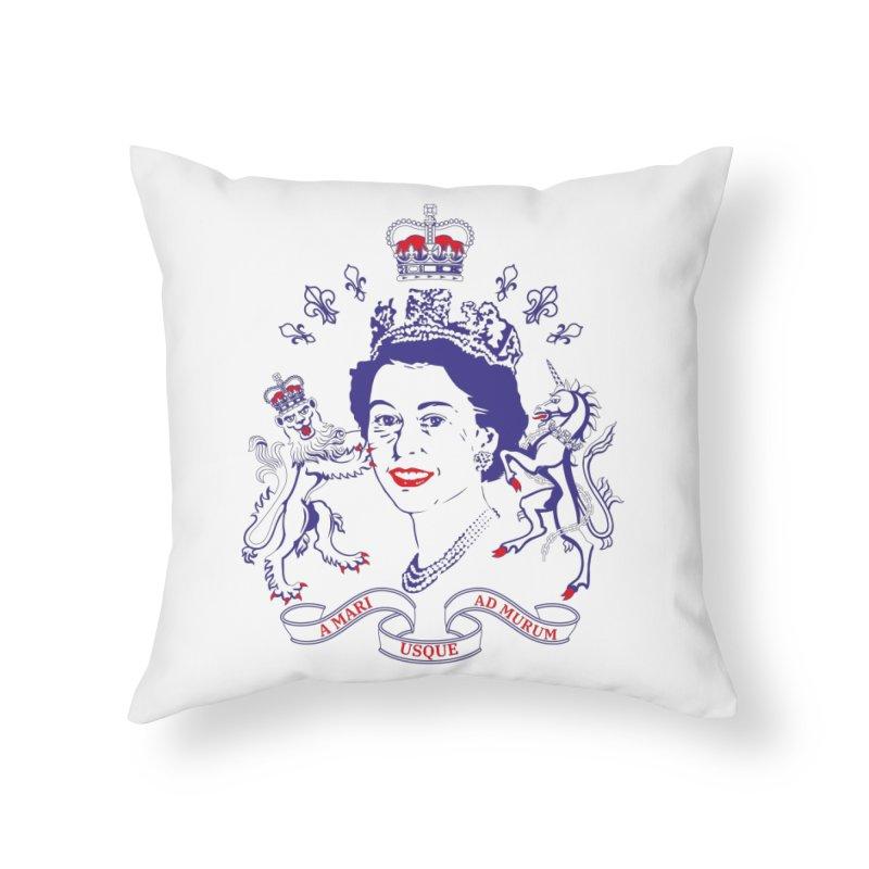 The Queen Home Throw Pillow by Dror Miler's Artist Shop