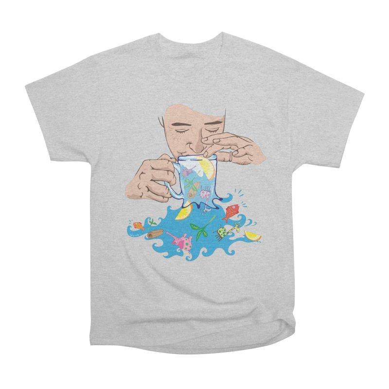 Surreal tea time Men's T-Shirt by Dror Miler's Artist Shop