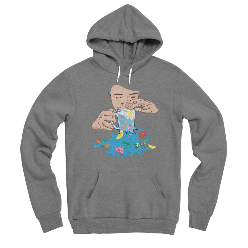 Surreal tea time Women's Pullover Hoody by Dror Miler's Artist Shop