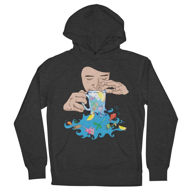 Surreal tea time Men's French Terry Pullover Hoody by Dror Miler's Artist Shop