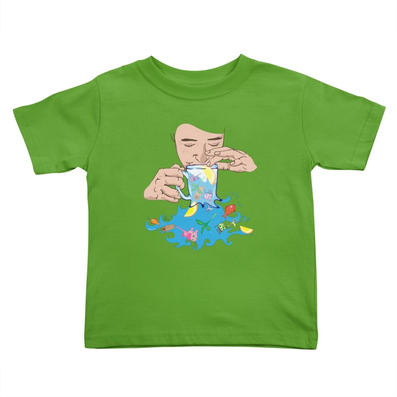 Surreal tea time Kids Toddler T-Shirt by Dror Miler's Artist Shop