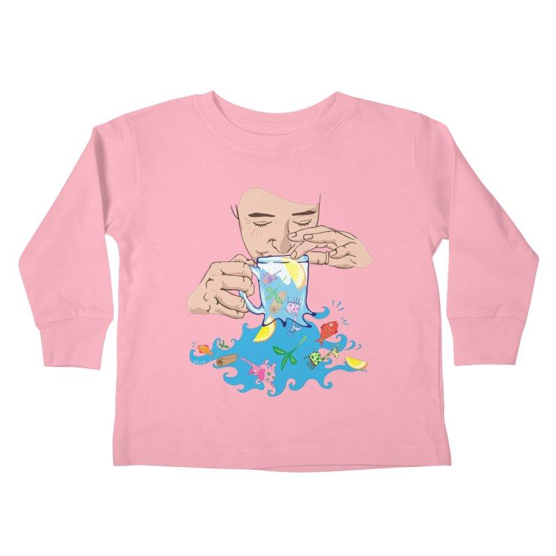 Surreal tea time Kids Toddler Longsleeve T-Shirt by Dror Miler's Artist Shop