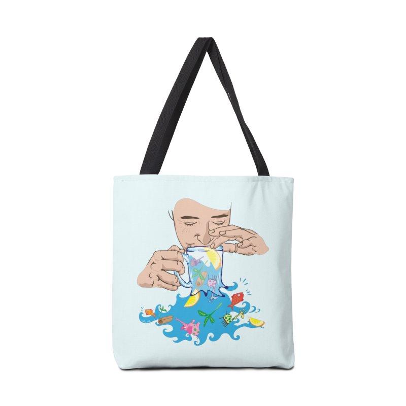 Surreal tea time Accessories Bag by Dror Miler's Artist Shop