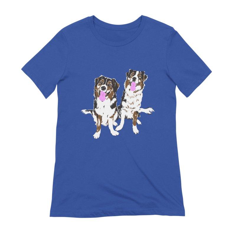 Half & Tilu Women's Extra Soft T-Shirt by Dror Miler's Artist Shop