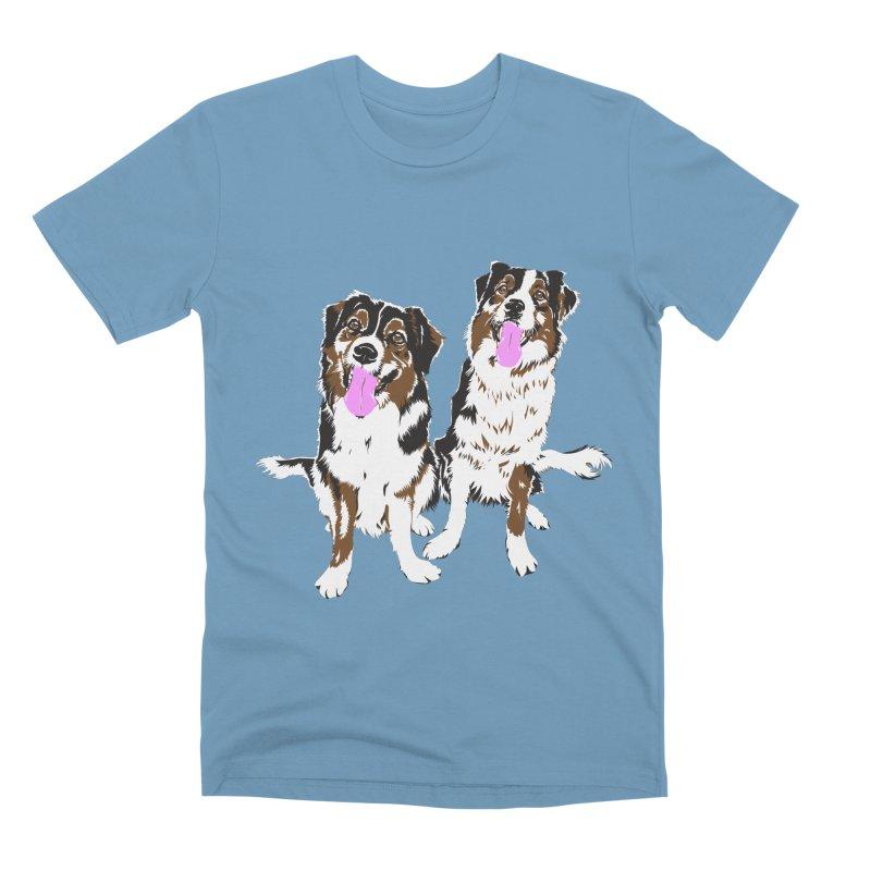 Half & Tilu Men's Premium T-Shirt by Dror Miler's Artist Shop