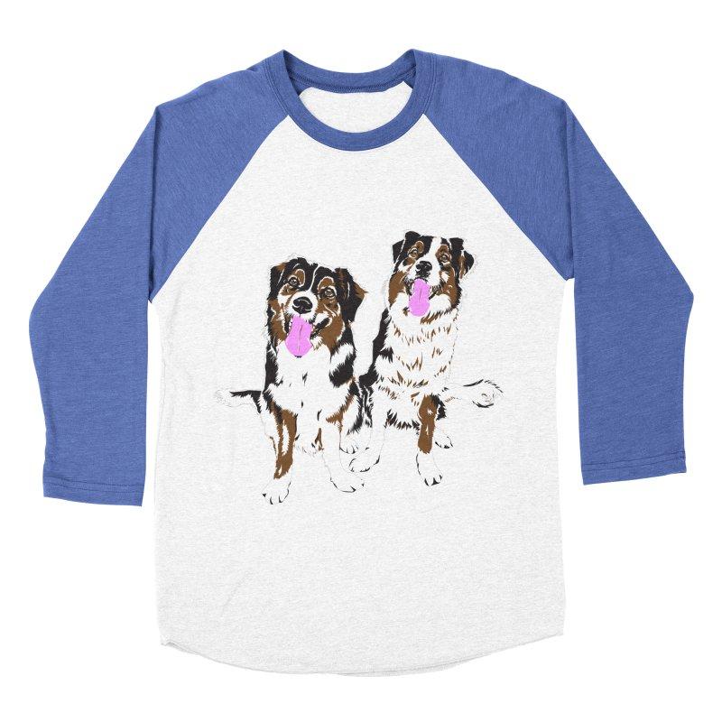 Half & Tilu Women's Baseball Triblend Longsleeve T-Shirt by Dror Miler's Artist Shop