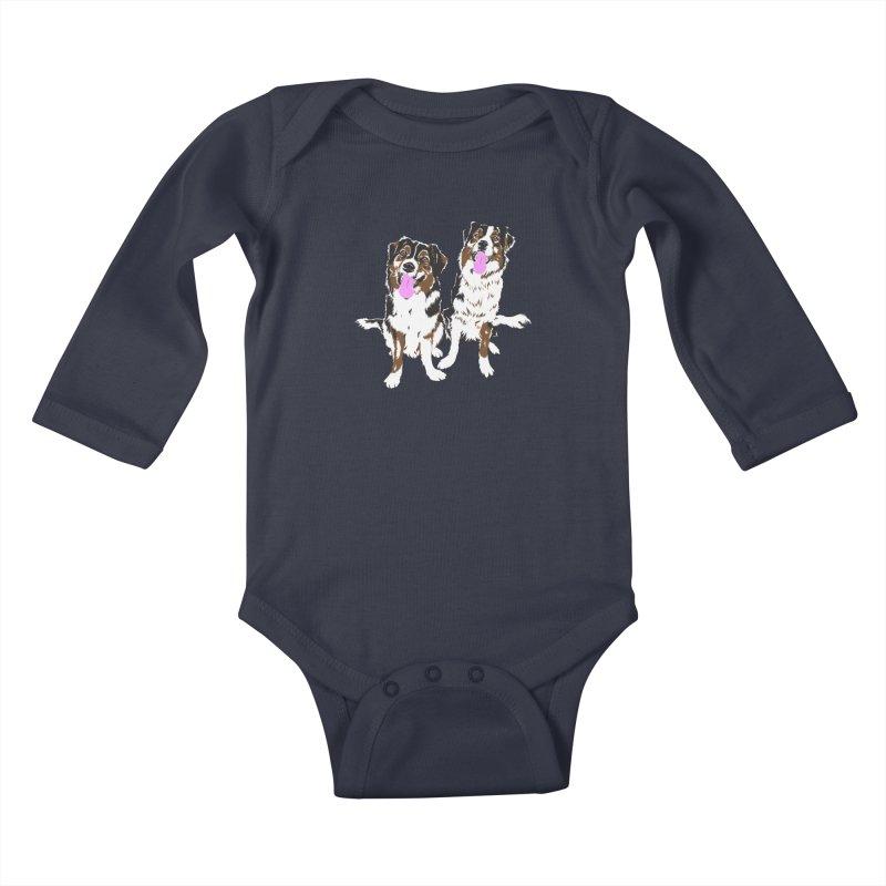 Half & Tilu Kids Baby Longsleeve Bodysuit by Dror Miler's Artist Shop